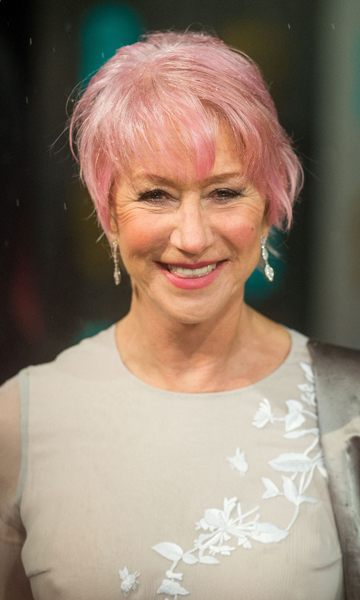 "Helen Mirren shocked fans when she stepped out at the BAFTAs back in February sporting newly-dyed pastel pink hair.  Speaking about the drastic transformation, Helen said, ""I just thought it would be fun to dye my hair pink.  I mean, honestly, I was watching America's Next Top Model and the season where there were British girls. The British girl who won, she had pink hair, and I thought, 'That looks really pretty.' So I'm copying her, basically."""