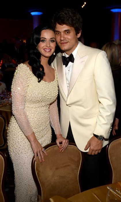 "Katy Perry & John Mayer  Having endured the heart-breaking end of her 16-month marriage, Katy Perry found love again with fellow musician John Mayer.  The couple started their on-off relationship in August 2012, following Katy's divorce from Russell Brand, and have in recent months become inseparable. There are even reports that they will soon be tying the knot.  In an October interview with W magazine, the Roar songstress revealed she'd had a crush on John for some time.  ""I actually am dating my crush,"" she admitted. ""I had a crush on him for a long time and it just so happens we fit together great.""   Photo: © Getty Images"