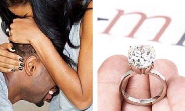 Gabrille Union's engagement ring is reported to be worth over $1 million. Her boyfriend of three years, Dwyane Wade proposed over the weekend and she said YES!