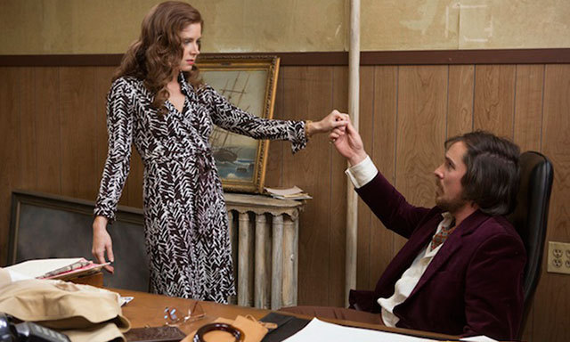 "For the 1970s-based film 'American Hustle,' costume designer Michael Wilkinson had Amy Adams wear a number of DVF wrap dresses of the era. ""I was gathering research images for Amy's character, Sydney, and I kept coming across stunning DVF photos from the period – not only of women wearing Diane's designs, but amazing photos of Diane herself,"" he said. ""The images had the right combination of confidence, elegance and sexiness that we needed to convey with the character."""