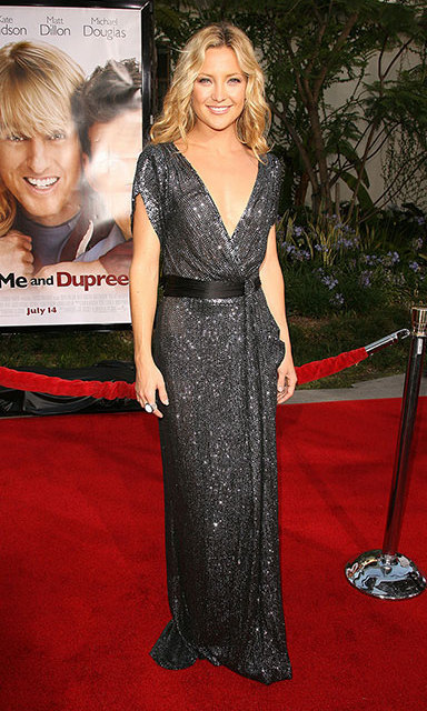 Kate Hudson sparkled at the 2006 premiere of 'You, Me and Dupree' in a glittering DVF with a plunging neckline.