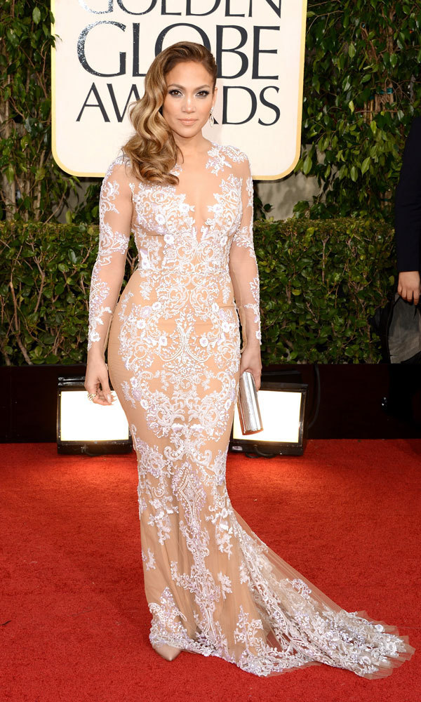 "JENNIFER LOPEZ: Yowza! We saw a whole lot of Jennifer in this daringly sheer Zuhair Murad number, which appeared almost appliqued to the presenter's body. This calls to mind Britney's sheer look in the ""Toxic"" video – and we like!"