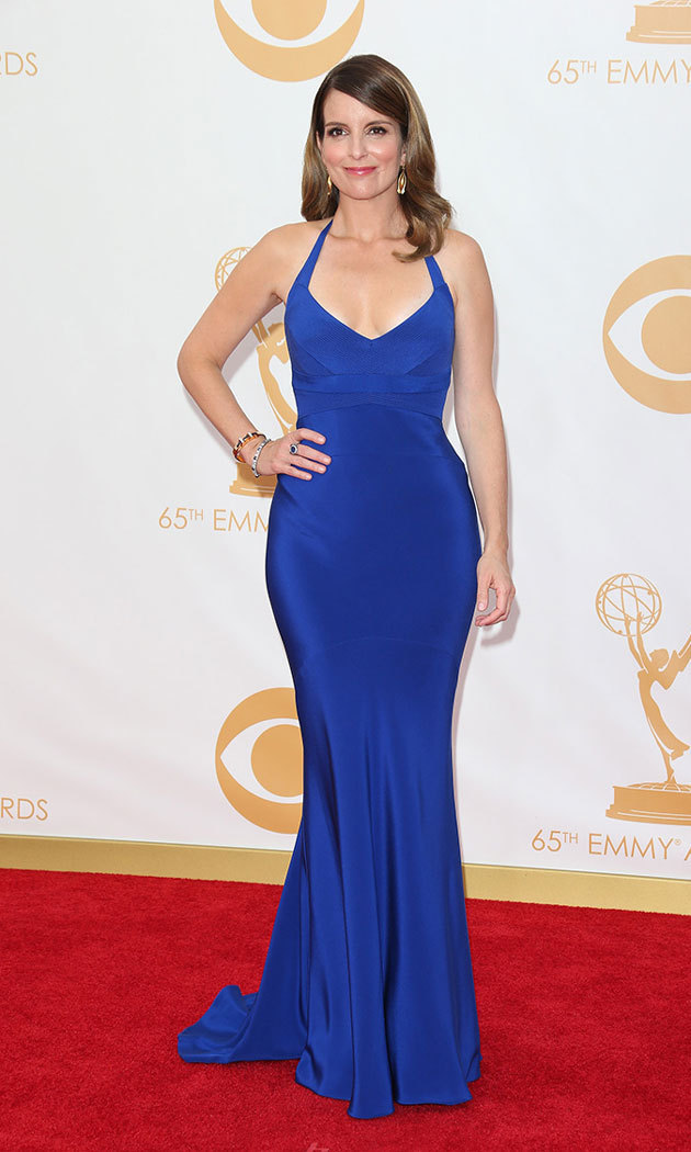 The cobalt blue Narciso Rodriguez dress Tina wore to the 2013 Emmy Awards was no laughing matter. She complimented her enviable curves with a little sparkle courtesy of Fred Leighton.