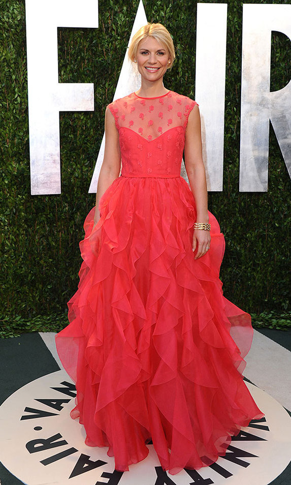 The veteran 'Vanity Fair' cover girl (her first cover was alongside Kate Winslet and Cameron Diaz in 1997) looked perfect in a pink Valentino confection at the magazine's annual post-Oscars bash in 2012.