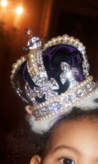 Finally, proof that Blue Ivy is royalty… Photo credit: Beyonce/Tumblr