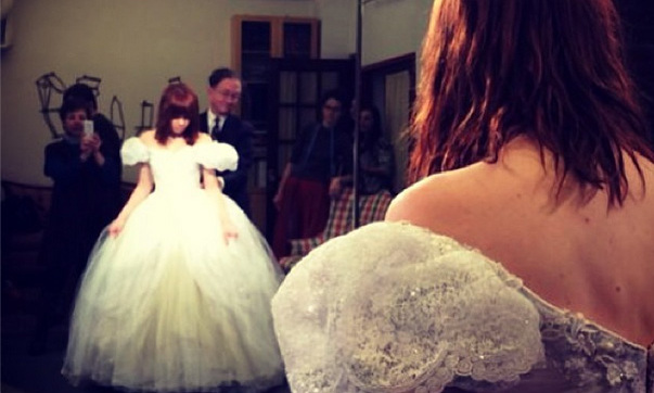 "Singer Carly Rae Jepsen gave fans a behind-the-scenes look at her princess-like transformation as she prepares for her role in Cinderalla on Broadway! She posted this photo to her Instagram account and captioned the snap: ""And this is the moment I tried on the glass slipper for the first time. @Cinderellabway it fits! Xo #CinderellaBway."" The Canadian songstress is set to make her musical debut in Roders & Hammerstein's Cinderella on Feb. 4, 2014 for a 12-week run."