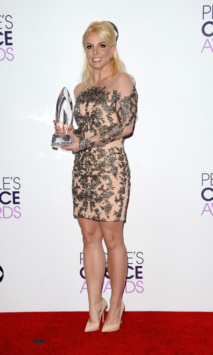 Britney Spears in a sheer, nude dress by Mikael D. Photo: © Getty Images