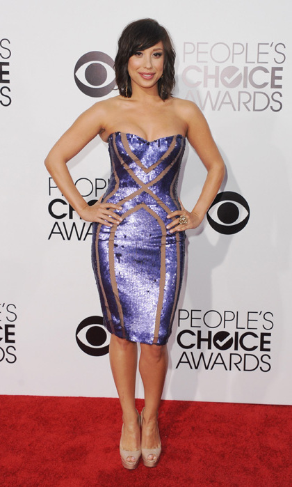 'Dancing With the Stars' Cheryl Burke in a form-fitting, sequined dress. Photo: © Getty Images