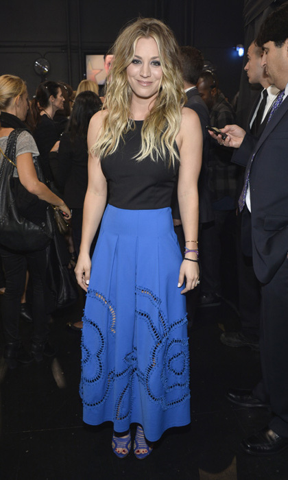 'The Big Bang Theory' actress Kaley Cuoco in head-to-toe Sachin and Babi with Aperlai heels. Photo: © Getty Images