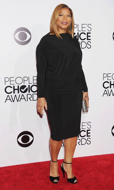 Queen Latifah in Angela Dean dress and Gucci shoes. Photo: © Getty Images