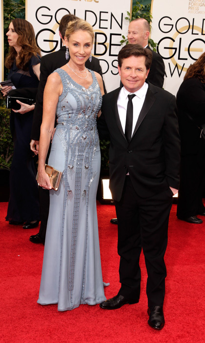 The 10 cutest couples at the 2014 golden globes hello for Michael j fox and tracy pollan love story