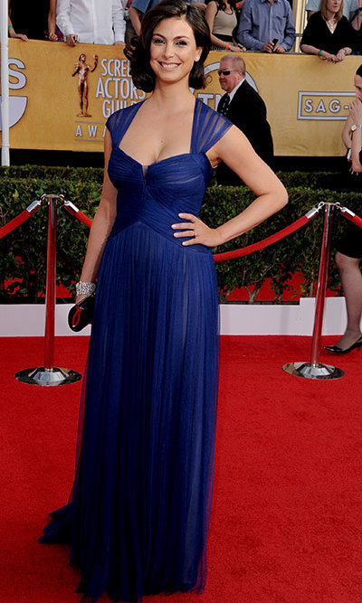 'Homeland' actress Morena Baccarin in a Monique Lhullier dress