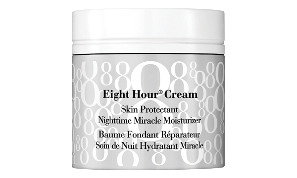 In conjunction with a cream cleanser, always finish your routine with a heavy-duty moisturizer that has a thick consistency to nourish your skin. Elizabeth Arden Eight Hour Cream Skin Protectant Nighttime Miracle Moisturizer ($47, elizabetharden.ca)