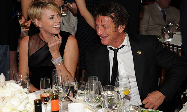 Charlize Theron and Sean Penn made their relationship debut at Sean's Help Haiti Home Gala.  (Photo: Getty)