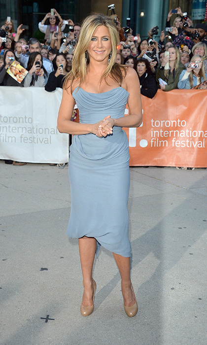 Jennifer looked radiant in a pale blue gown at the 2013 Toronto International Film Festival. © Getty Images