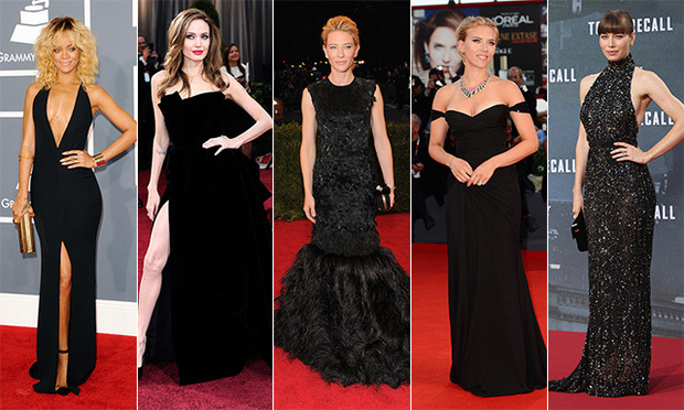 29842e7f949 Red Carpet Trend  Best Black Gowns