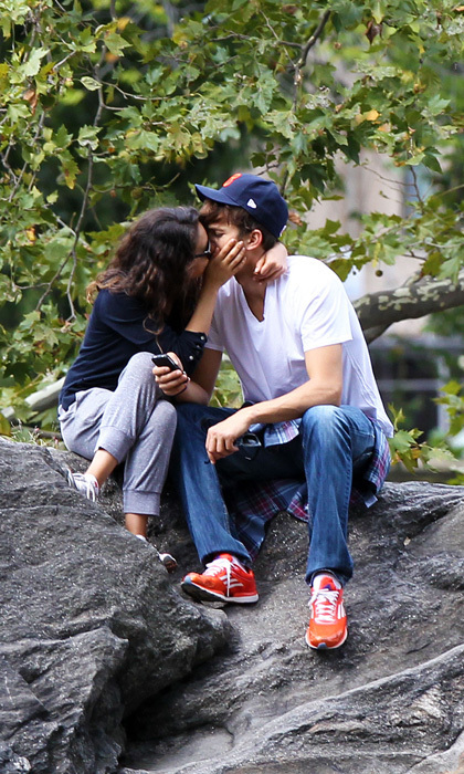 The twosome reconnected in 2012 and began to date in earnest. They were first spotted getting cozy in Central Park, with Mila stealing a kiss from her beau in September, 2012. Photo: © Splash News