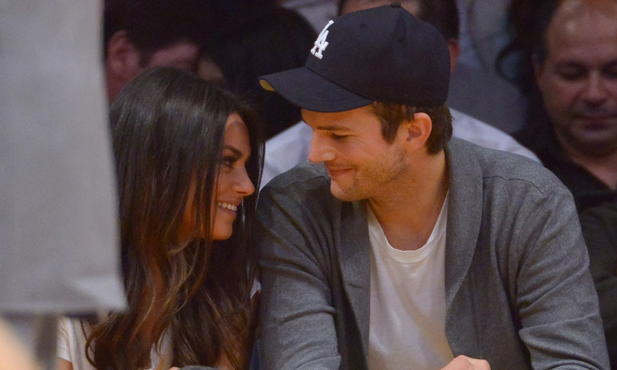 The sporty pair are often spotted at basketball games in Los Angeles. The chemistry between Mila and Ashton is undeniable as they are seen gazing lovingly at one another from the sidelines at the Staples Centre in February, 2013. Photo: © Getty