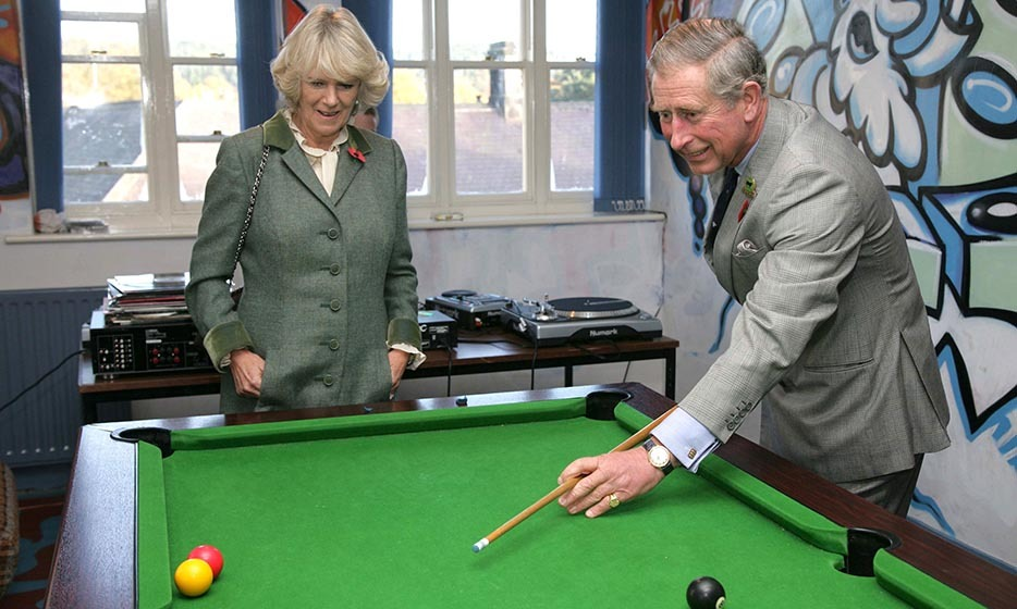 2006: The pair share many common interests, including a mutual love of snooker. The Prince and the Duchess of Cornwall enjoyed a game with teenagers while visiting the Jubilee Institute at Rothbury during the second year of their marriage.