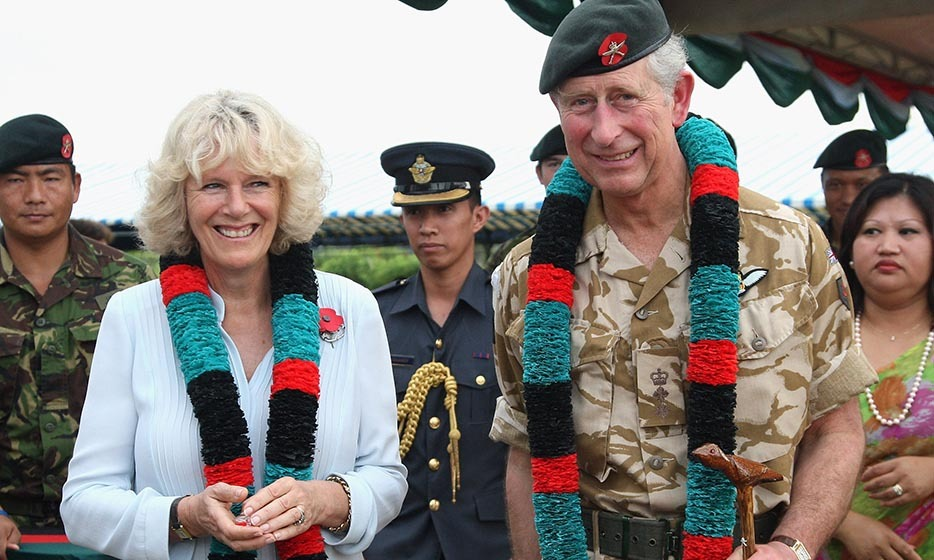 2008: Camilla and Charles were all smiles after receiving garlands at the British Garrison in Brunei, a sovereign state located on the north coast of the island of Borneo in Southeast Asia. The duo are fond of travelling and are planning to pay an official visit to Canada next month, with stops in Manitoba and Prince Edward Island.
