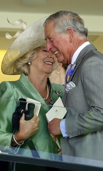 2013: Seemingly more in love than ever, Camilla and Charles shared a private joke as they attended Day 2 of Royal Ascot last year.