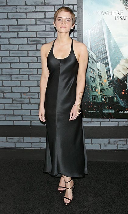 For the 2010 premiere of 'Harry Potter and the Deathy Hallows: Part 1,' the 20-year-old actress slipped into a slinky Calvin Klein number. The actress also debuted her newly shorn locks.