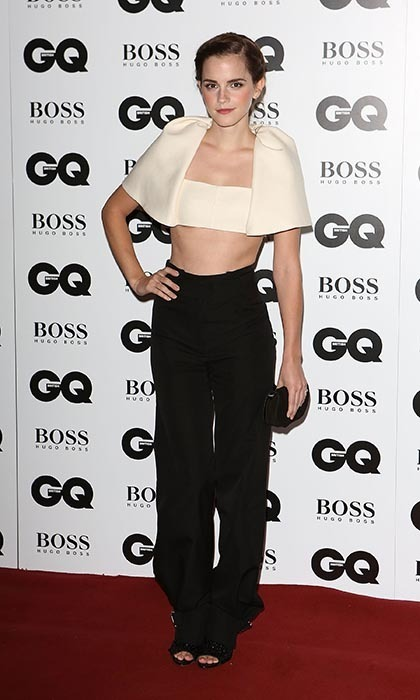 At the GQ Men of the Year Awards, the star showed off her toned midriff in an avant-garde Balenciaga ensemble. (Photo by Tim P. Whitby/Getty Images)