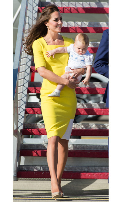 "Serbian designer Roksanda may have had an inkling of what the Duchess of Cambridge was planning on wearing for her touchdown in Australia – hours before, she tweeted a close-up image of a yellow and white dress with the caption, ""Bright yellow #SS14""."