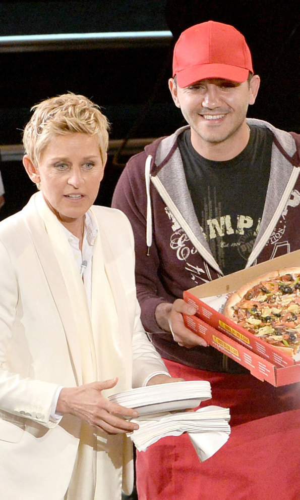 Following the 2014 Oscars, Ellen Degeneres invited the deliveryman who had handed out pizza during the ceremony to be a guest on her show. He walked away with a $1,000 tip and a wonderful story to tell!