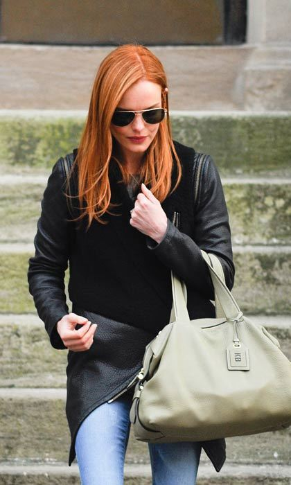 Kate Bosworth traded her blonde locks for a bright red look.  Photo: © Splash