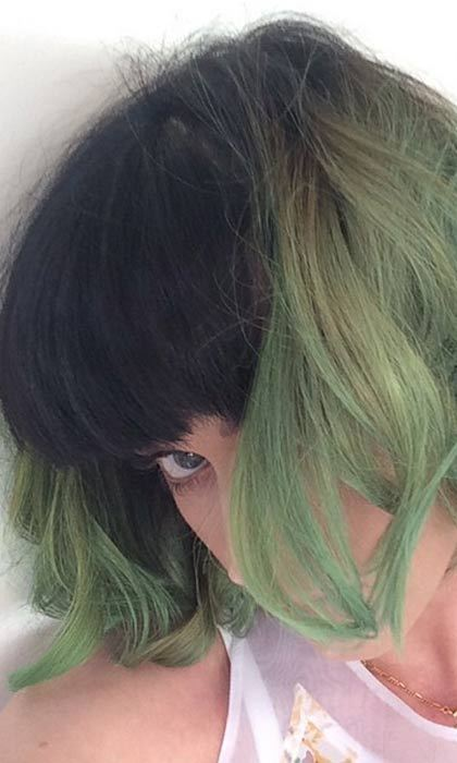 Katy Perry shared a photo of her new 'slime green' on Instagram.  Photo: © Instagram