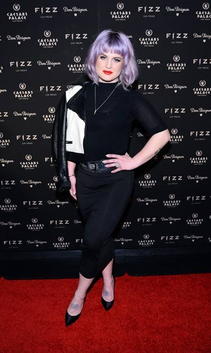 Kelly Osbourne sporting bright purple hair.  Photo: © Getty Images