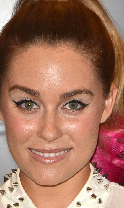 Lauren Conrad dyed her hair pink, but has also been known to sport 'rainbow coloured' tips.  Photo: © Rex