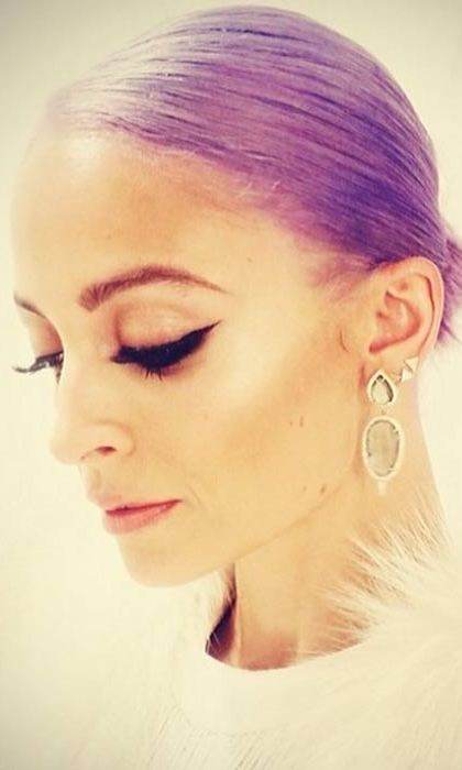 Nicole Richie wowed fans when she shared a photo of her new purple hairstyle on Instagram.