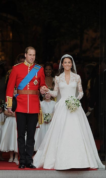 The Duke and Duchess of Cambridge stepped out for the first time as man and wife.