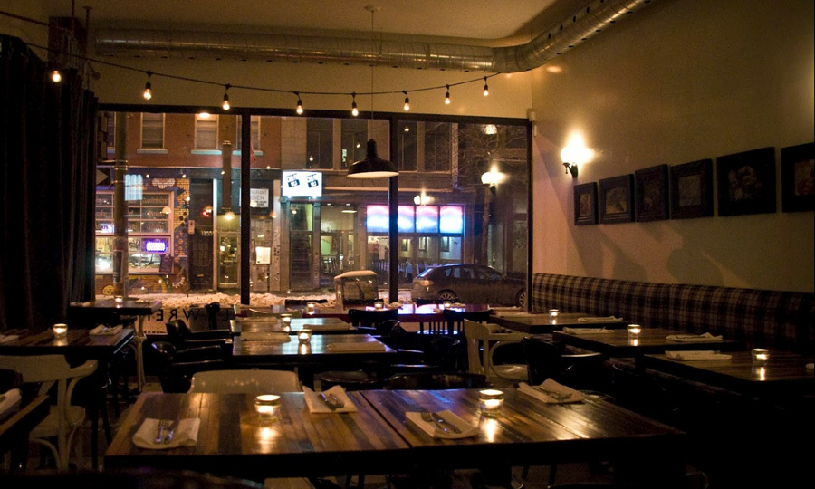 MONTREAL: Good on its own, or perfect for a post-spa nosh, Lawrence Restaurant (5201 Blvd. St. Laurent) pairs delicious, local-inspired rotating menus with an airy, modern ambience. Try their take on the French classic, beef tartare ($14), followed by a plate of pillowy gnocchi and Bolognese ($17). The grateful hug goodbye? A gooey maple tart ($8).