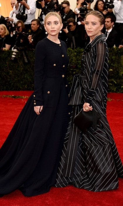 Mary-Kate and Ashley Olsen in vintage Chanel.