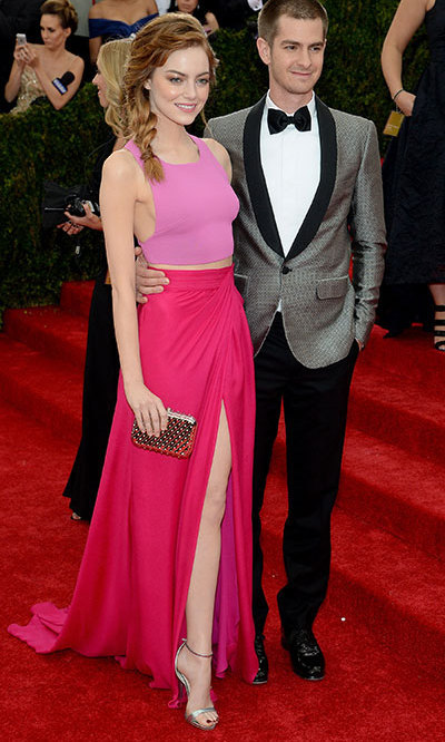 Emma Stone and Andrew Garfield at the Met Ball. Photo: © Getty