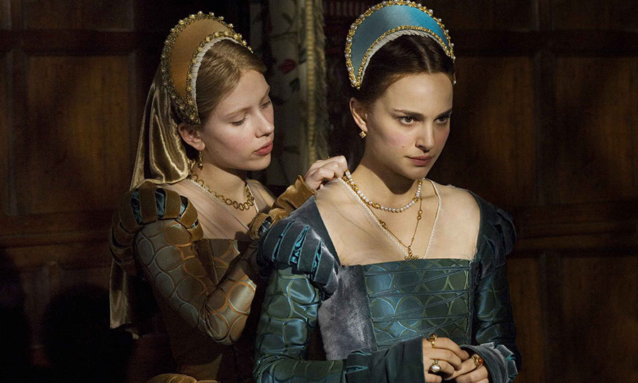 Two sisters vie for the affection of King Henry the VIII in the 2008 film 'The Other Boeyln Girl,' with Natalie Portman portraying the cunning Anne (mother to Queen Elizabeth I) and Scarlett Johansson playing a naïve Mary.