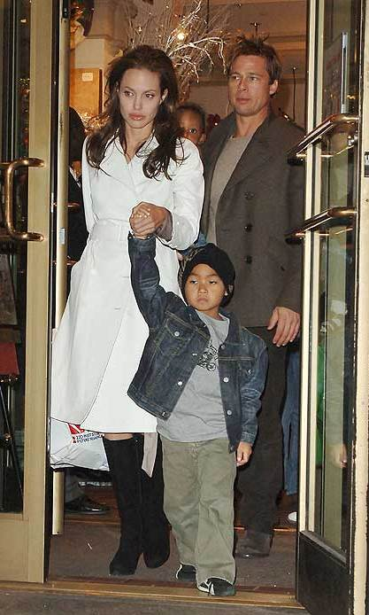 It was her son Maddox who encouraged them to get together calling Brad 'Dad' out of the blue.