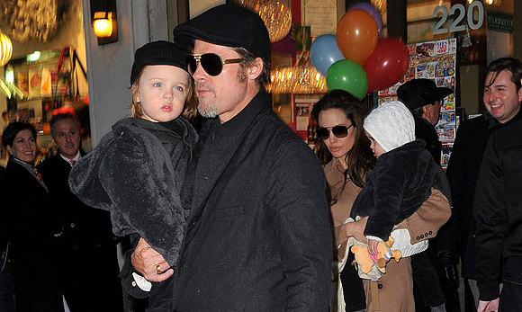 With the arrival of Knox Leon and Vivienne Marcheline in 2008, the Jolie-Pitts were a happy family of eight.