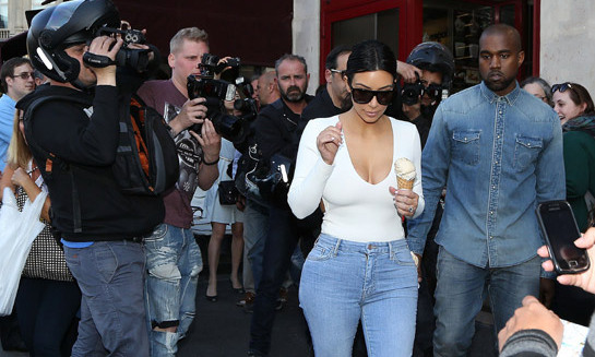 Kim Kardashian and Kanye West are reported to have booked venues in Paris and Florence for their wedding. Photo: © Getty Images
