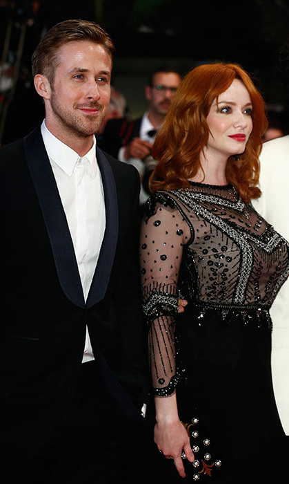 Ryan Gosling and Christina Hendricks at the premiere of 'Lost River.'