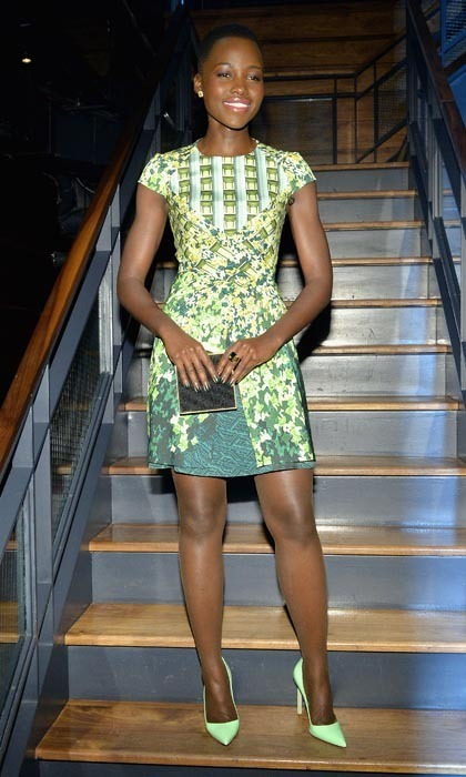 "Every time Lupita Nyong'o hits a red carpet, Hollywood's newest ""it"" girl ends up on a best-dressed list. And at the 'Dujour' magazine party in February 2014, she also made the best leg list in a grassy green Peter Pilotto mini dress."