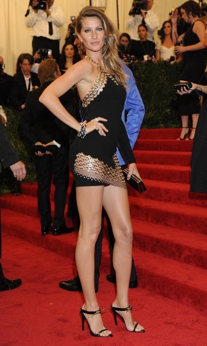 Gisele Bündchen has certainly earned her Victoria's Secret wings, but she's also got the legs to run when she decides to stop flying. Thanks to the Anthony Vacarello mini dress she wore tot he 2013 Met Gala, her gams were the talk of the red carpet.