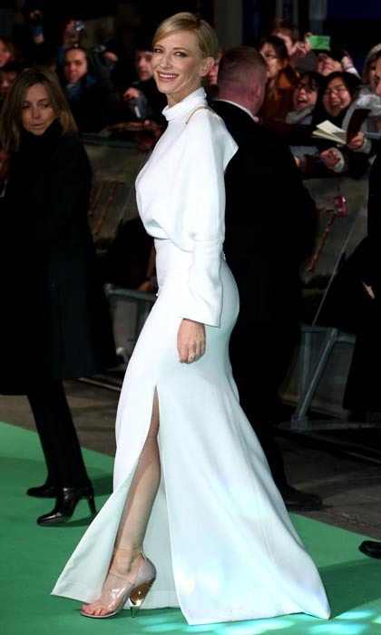 Cate Blanchett may be known for her million-dollar face and seasoned acting chops, but she's also got a killer pair of pins. Cate rocked the red carpet at London's premiere of 'The Hobbit' in 2012 wearing a jaw-dropping white Givenchy gown with a thigh-high slit to show off her enviable assets.