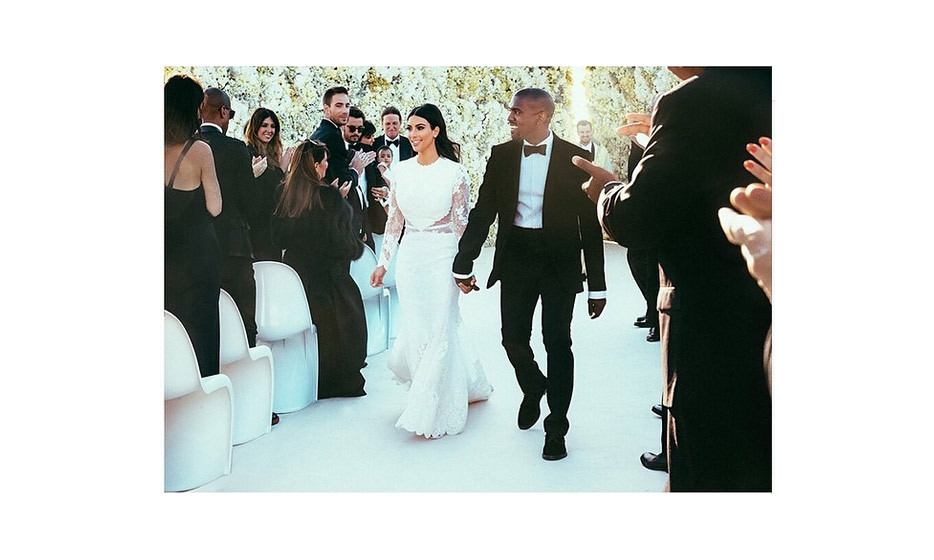 The newlyweds walk down the aisle. Photo: Instagram