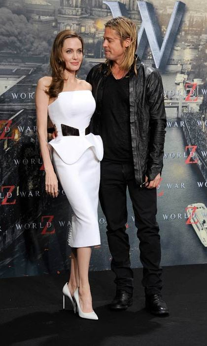 Supporting her husband at the World War Z premiere in June, 2013