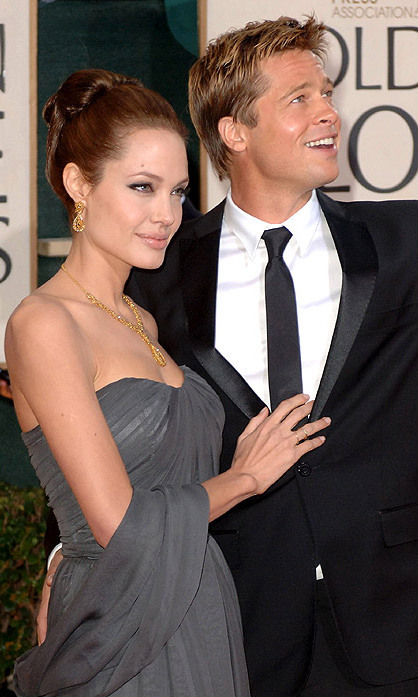 Attending the 64th annual Golden Globes with Brad Pitt