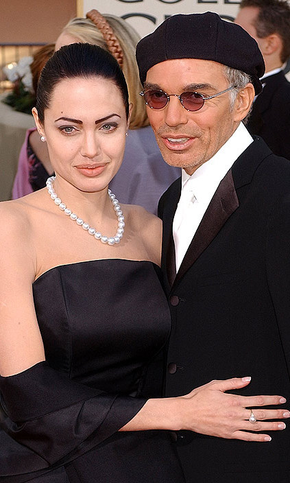 At the Golden Globe awards with Billy Bob Thornton in January 2002